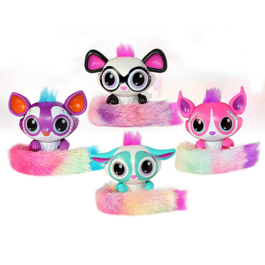 Interactive Doll Toy With Colorful Plush Tail Touch Sensor Sound Activated Light Up Toy For Children Birthday Gift