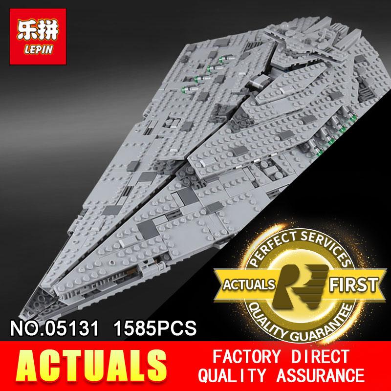 Lepin 05131 1585Pcs The First order Star Model Destroyer Set 75190 Building Blocks Bricks for Educational Toys WARS цены онлайн