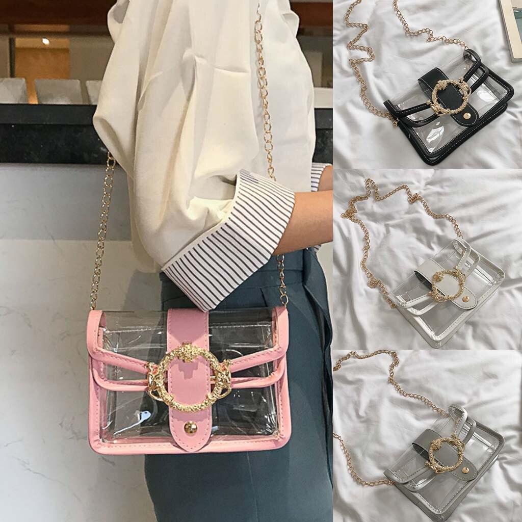 Women's Wild Shoulder Bag Transparent Messenger Bag Jelly Bag Mobile Phone Bag Small New