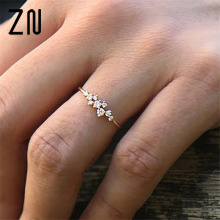 ZN 2018 New  Fashion Rose Gold Rings jewelry Luxury Ring for women Jewelry gift