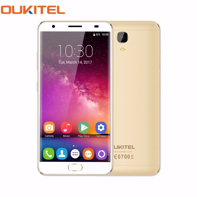 "OUKITEL K6000 Plus 5.5"" Octa Core 4G Mobile Phone Android 7.0 4GB RAM 64GB ROM MTK6750T 16MP Cam Fingerprint Smartphone 6080mAh"