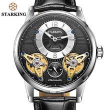 STARKING Berühmte Marke Uhren Männer 50 Mt Wasserdicht Business Armbanduhr Männlichen Automatischen Doppel Tourbillion Uhr Mann Geschenk Klockor