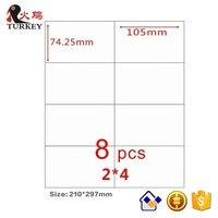 Самоклеющаяся этикетка A4 8-up (50 листов 400 этикеток)  этикетка Amazon FBA 105 мм x 74 25 мм для печати почты