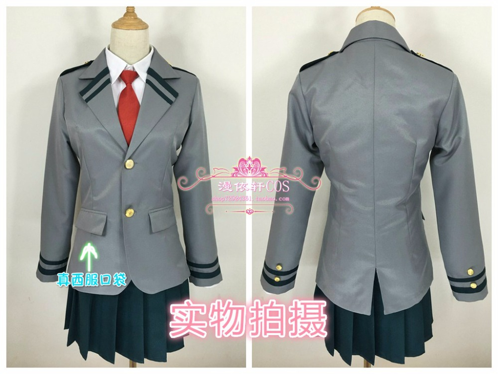 Free Shipping Cosplay Costume My Hero Academy Ochako Uraraka Uniform New in Stock Halloween Christmas Party