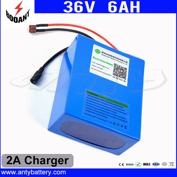 Electric Bicycle Battery 36V 6Ah 450W For Bafang Motor eBike Lithium Rechargeable Battery Pack 36V With 18650 Cell 2A Charger 48v 34ah triangle lithium battery 48v ebike battery 48v 1000w li ion battery pack for electric bicycle for lg 18650 cell