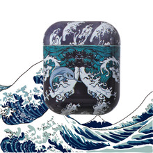 Japan Stijl Patroon Bluetooth Draadloze Oortelefoon Case Voor Apple Airpods 1 2 Dust Guard Gevallen Hard Plastic Cover Voor Air pods(China)