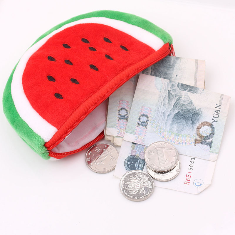 Ladies wallets and purses Fruit wallets watermelon Pattern purse for Coin Purse female money clutch bag for women card holder hot sale owl pattern wallet women zipper coin purse long wallets credit card holder money cash bag ladies purses