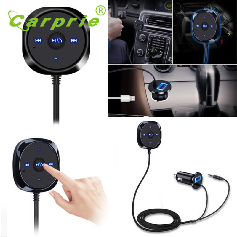 Tiptop New Bluetooth 4 0 Wireless Music Receiver 3 5mm Adapter Handsfree Car font b AUX