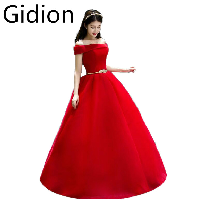 Romantic Red Ball Gown Off The Shoulder Sexy Wedding Dress