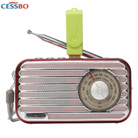 Hot Selling! Retro System Portable Speaker Bluetooth Radio AM/FM Stereo Sound MP3 Music Player with AM/FM Radio Easy to Use
