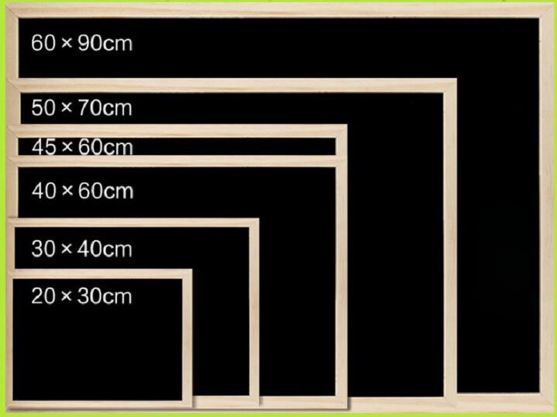 Collection Here Solid Wood Double-sided Magnetic Blackboard Creative Restaurant Price Menu Table Hanging Blackboard 30/40/50/60cm Presentation Boards