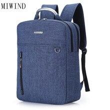 Miwind нейлоновый рюкзак школы Студенческие повседневные женские и мужские рюкзаки для подростков ноутбук рюкзаки для девочек Дорожная сумка TYD630