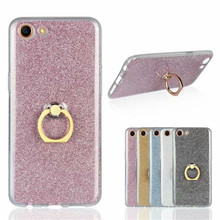 Phone Case For OPPO A83 Glitter Bling Case Finger Ring Holder TPU Back Cover Capa For for OPPO A83 A 83 5.7 inch Fundas Coque