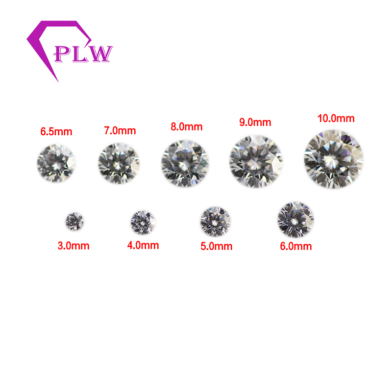 Free shipping D color 7 5mm 1 5ct VVS clarity shape round brilliant excellent cut Moissanite or mozanit for diament jewelry in Loose Diamonds Gemstones from Jewelry Accessories