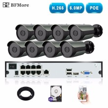 BFMore H.265 5.0MP 4.0MP POE 8CH NVR Kit CCTV System IP Camera IP67 Outdoor Weatherproof Video Security Surveillance Set Seetong