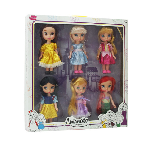 Disney 2017 New Style 16cm Vinyl Dolls Salon Sophia Frozen Anna Elsa Princess Doll for Childrens Birthday Gift
