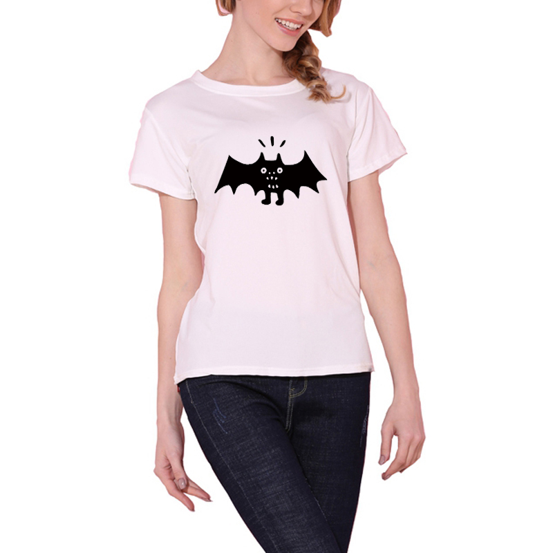 New Women T-shirt Batman Print Sjove Casual Tops Basic Bottoming - Dametøj - Foto 2