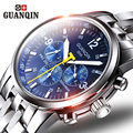 GUNQIN Men's watch self-winding automatic mechanical watches men dress luxury Sapphire Business relogio masculino steel strap aa