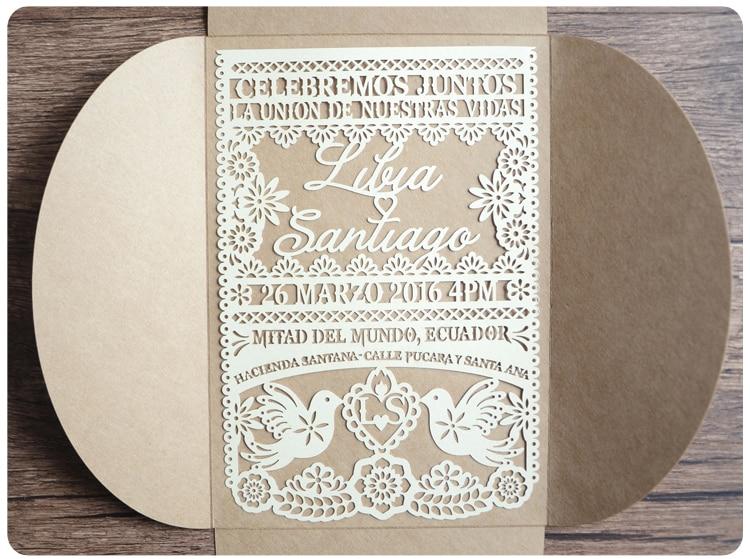 Elegant Wedding Invites Coupon: Pink China Vintage Laser Cut Wedding Invitations White