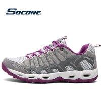 Outdoor Sports Shoes Women Running Sneakers Cushioning Running Shoes Pink Purple Women Walking Camping Light Trekking