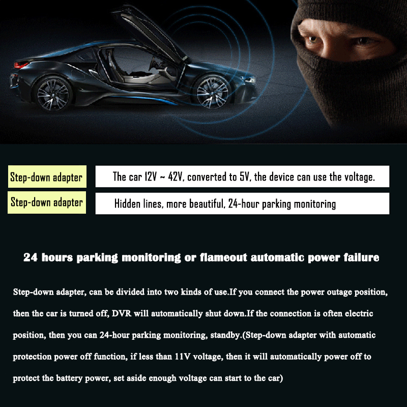 FHD 1080P car camera 4.3-inch Mirror Rearview screen dual lens Car DVR Night Vision rearview mirror auto dvrs Stop Recording 28