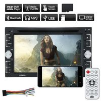 6205 Double Din 6.2 Inch Car Stereo DVD CD MP3 Player In Dash For iPod Auto HD TV Radio Video Audio Camera Parking