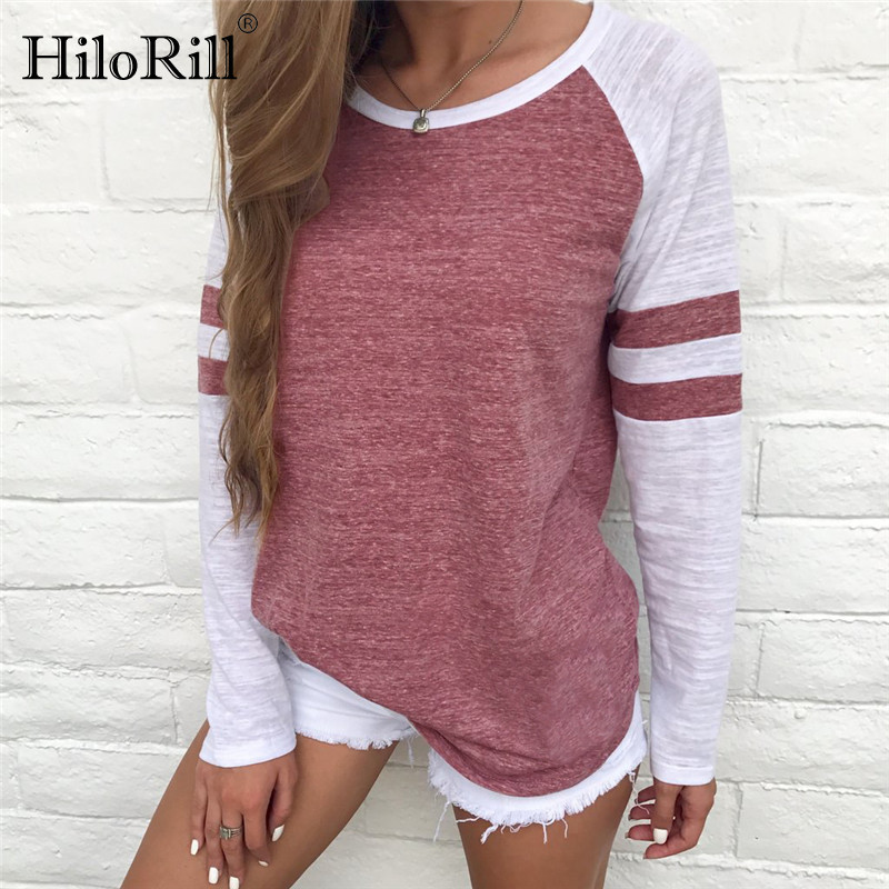 Women Blouses 2019 Spring New Arrival Casual Long Sleeve Blouse Shirt O-neck Tee Shirts Loose Tops Plus Size 5XL Blusas Feminina