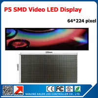 TEEHO led board display LED Display Board Video Card Control PLED screen 5 Indoor Video Wall 69cm*229cm 27''*90'' LED Strip Sign