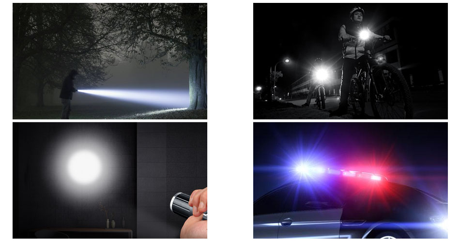 5000lm Powerful Rechargeable Police Flashlight Torch