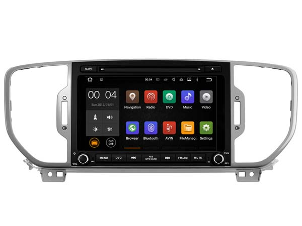 Latest Android 8.1.0 car dvd audio player for KIA SPORTAGE 2016-2018 stereo auto gps multimedia head unit receiver BT 3G FM WIFI