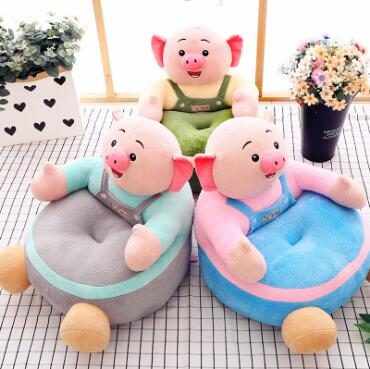 WYZHY Creative pig small fart sofa plush toy sofa bedroom decoration to send friends and children gifts 57CMX40cm