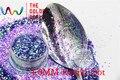 TCR06 Americano Fantasía Púrpura Iridiscente color glitter polvo Punto Redondo Forma para uñas de Arte u otros DIY decoración