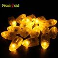 100 pçs/lote Warm White Mini Lâmpadas Com Bateria Conduziu a Luz do Balão Para A Festa de Casamento Hallooween Decoração Lanterna Luzes de Natal