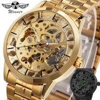 WINNER Men Royal Men Auto Mechanical Watch Luminous Hands Skeleton Dial Top Brand Luxury Wristwatch Christmas