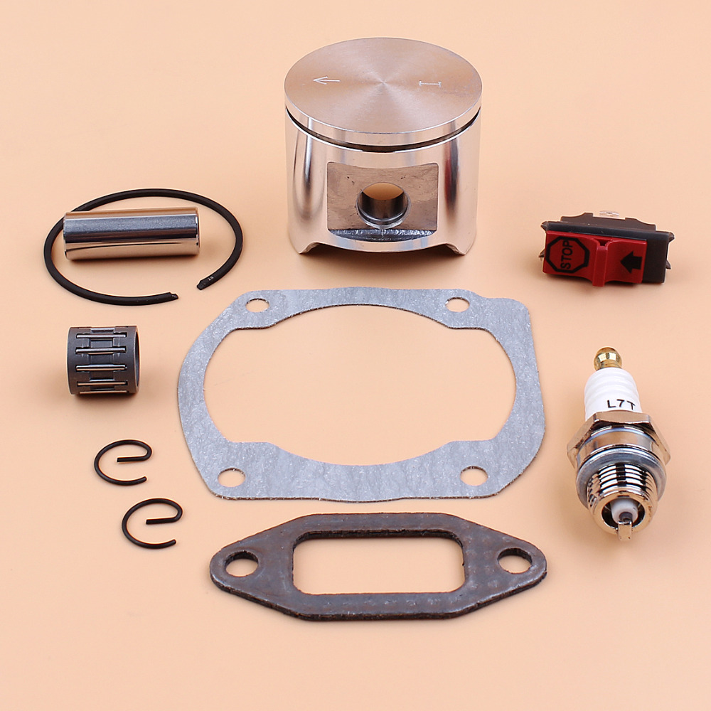 48mm Piston Gasket Bearing Stop Switch Kit For HUSQVARNA 365 365XP 371 372 JONSERED 2165 2065 CS2165 Gas Chainsaws Parts