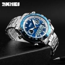 SKMEI мужские наручные часы Мода Спорт цифровой кварц мужской Часы Нержавеющая сталь несколько раз зоны Relogio masculino часы
