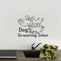 Free shipping Pet Salon glass poster stickers pet hospital pet shop window advertising creative decorative wall stickers