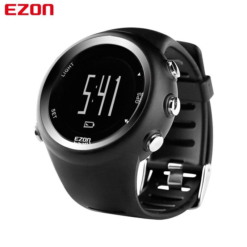 Saatler'ten Dijital Saatler'de EZON T031 Erkek GPS Spor Saatler 50M Su Geçirmez Mesafe Hız Kalori Sayacı GPS Zamanlama Çok Fonksiyonlu Dijital Bilek Saatler'da  Grup 1