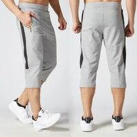 ジョギングオムsurvetementサッカートレーニングパンツ男性pantalonesやつ3/4スポーツフィットネスジムレギンスランニングパンツ