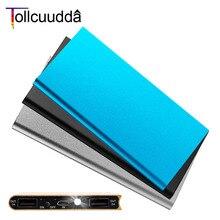 Tollcuudda Путешествия Металл Power Bank 8000 мАч двойной USB внешний аккумулятор портативное зарядное устройство Bateria наружный пакет для ми мобильного телефона