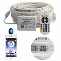 APP and Remote RGB LED Strip Light High Brightness 220V LED Strip waterproof 220 V 120 leds/m SMD5050 ribbon tape ledstrip IL