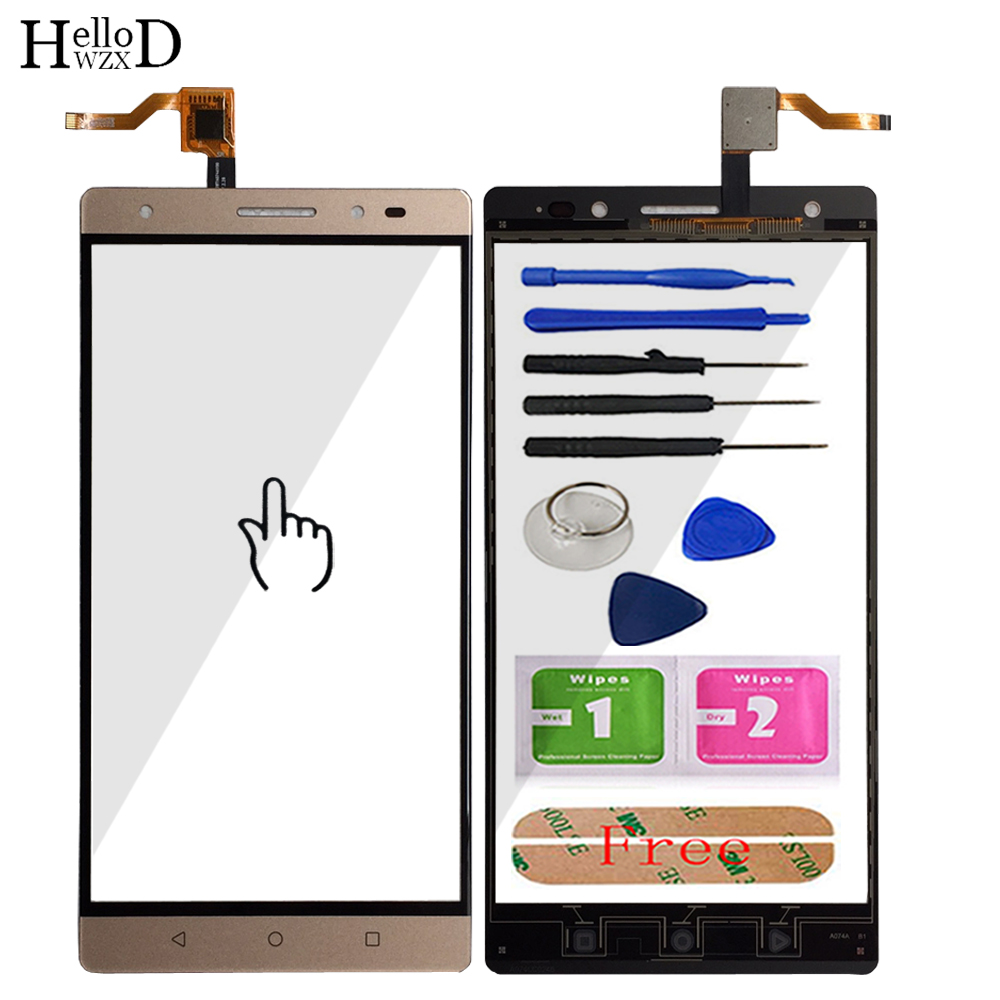 Mobile Touch Screen Front For Lenovo PHAB 2 Plus Touch Screen Front Glass Digitizer Panel Sensor TouchScreen Adhesive Tools