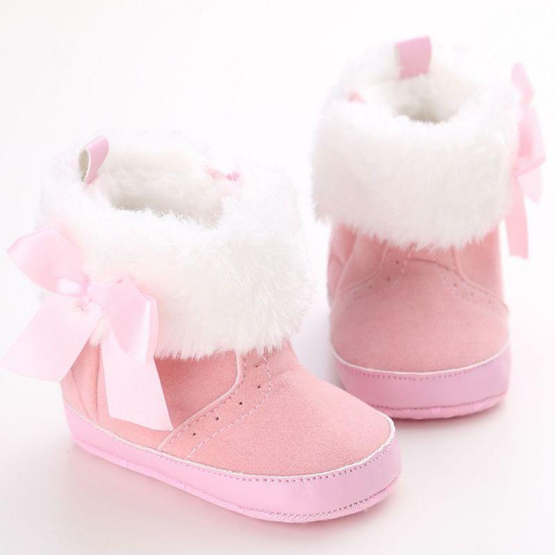 Toddler Infant Baby Kids Boys Girl Crib Winter Boots Prewalker Warm Martin Shoes
