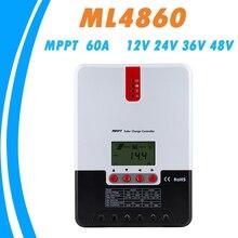 MPPT 60A شاحن بالطاقة الشمسية تحكم 12 فولت 24 فولت 36 فولت 48VAuto جيل أكسيد الرصاص ليثيوم أيون جهاز التحكم في الشحن ل ماكس 150 فولت لوحة طاقة شمسية المدخلات