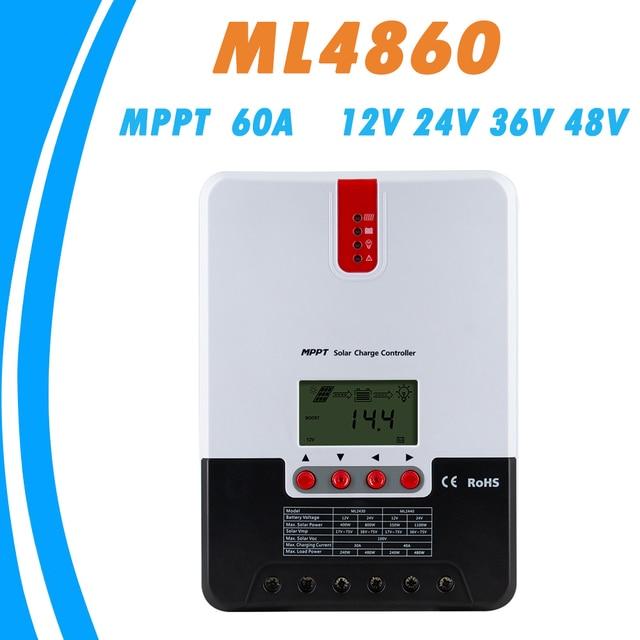 MPPT 60A Solar Charger Controller 12V 24V 36V 48VAuto Lead Acid Gel lithium ion Charge Controller for Max 150V Solar Panel Input