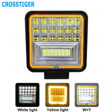 4x4 White Yellow 72W Offroad Car 4WD Truck Tractor Boat Trailer 12V 24V Spot LED Light Bar Work LEDS Combo Lights