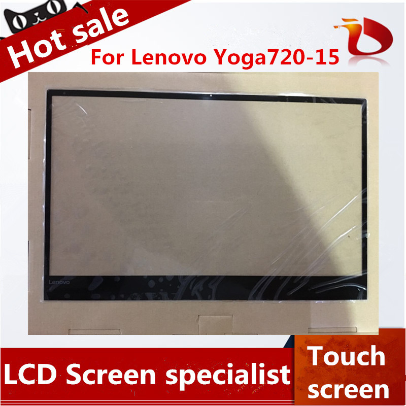 Free shipping Brand New A+ original laptop touch 15.6 inch For lenovo Yoga720-15 Digitizer Touch Screen Glass Repair Replacement