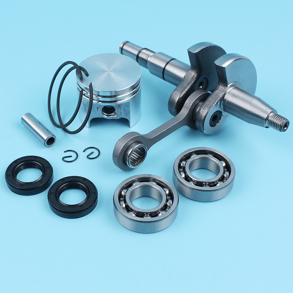 37mm Piston 8mm Pin Crankshaft Ball Bearings Oil Seals For STIHL 017 MS170 Chainsaw OEM# 1130 030 2000 NEW Parts