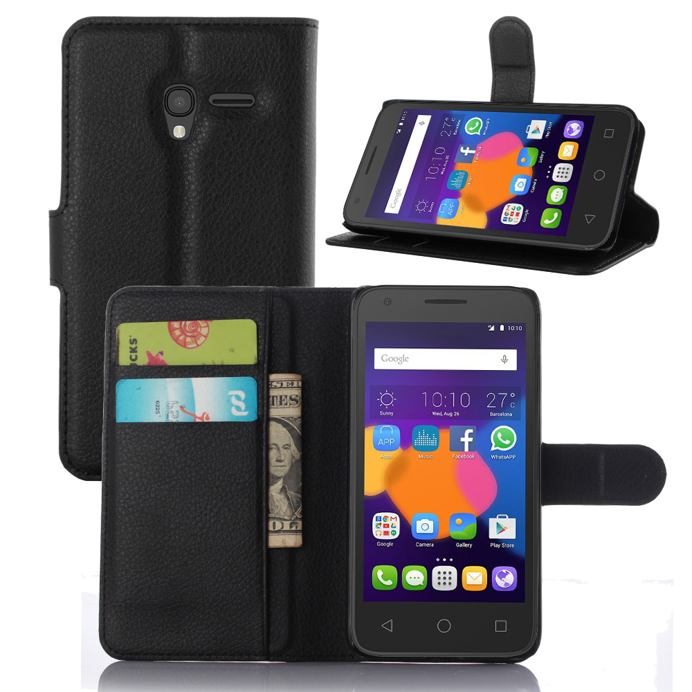 premium selection dc511 64c2b Aliexpress.com : Buy Luxury Phone Carcasa Cover For Alcatel One Touch Pop 3  (5) 3G 5.0 Inch Flip Wallet PU Leather Bag Skin For Alcatel 5015D Case ...