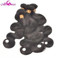 Ali Coco Peruvian Body Wave 4PC/lot 100% Human Hair Extension Natural Color/#2/ 1/4/27 Bundles Hair Weave Non Remy Pervian Hair